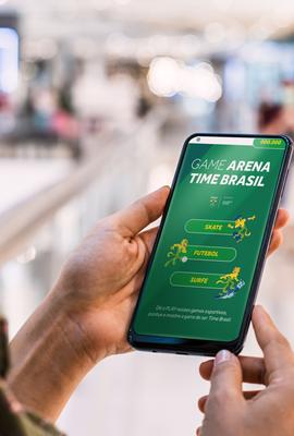 Shopping da Bahia lança game e cenário interativo que incentivam relação entre o público e esporte