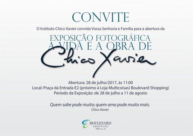 Boulevard recebe exposição em homenagem a Chico Xavier