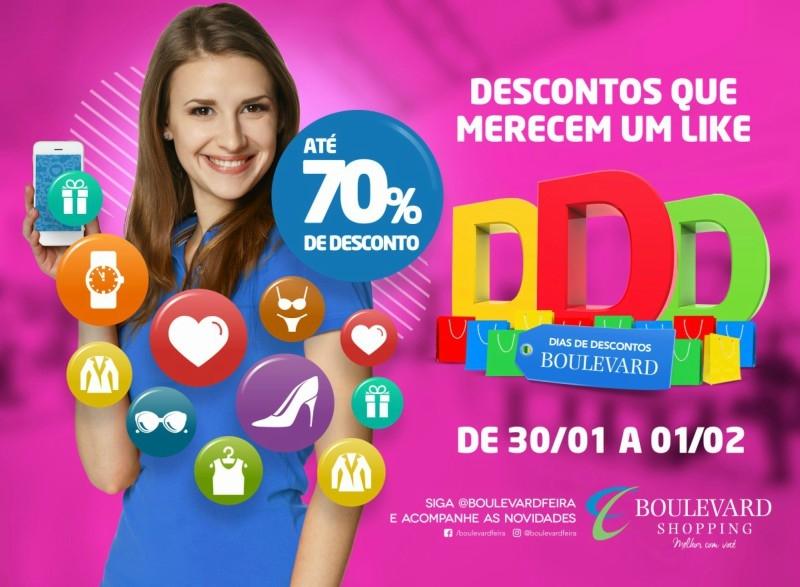 Boulevard promove liquidação com até 70% de desconto